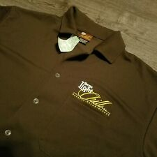 CORONA LIGHT Button Front Shirt brown Relax beer CHILL Mens Large