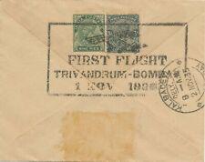 INDIA 1.11.1935, First Flight Trivandrum - Bombay, rare Demonstration Flight RR!