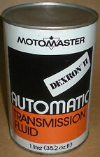 VINTAGE CAN MOTOMASTER CANADIAN TIRE DEXRON II AUTOMATIC TRANSMISSION FLUID FULL