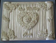 WHITE WEDDING GUEST BOOK W/PEN