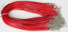 Wholesale Bulk lot 10 pcs red PU Leather String 50cm Necklace Cords