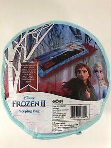 "Frozen II Camping Sleeping Bag 56"" x 28"" Anna Elsa Self Repairing Zipper"