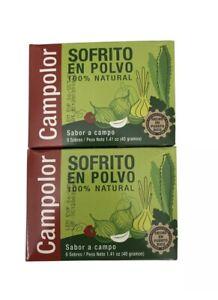 Campolor Sofrito Criollo en Polvo 100% Natural 2 cajas boxes 16 sobres packets