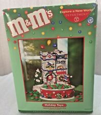 Dept 56 M&M's Holiday Toys Lighted House & Candy Dish w/Box