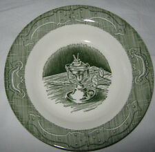 The Old Curiosity Shop Royal china Rimmed Soup Bowl Green