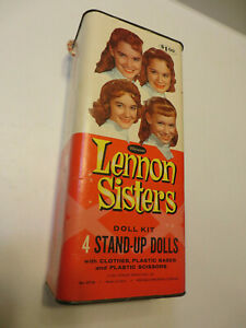 RARE LENNON SISTERS STAND UP DOLLS CONTAINER WHITMAN