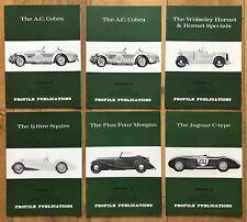 6 x Vintage Profile Publications Car Brochures Wolseley, Cobra, Morgan, Jaguar