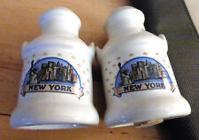 Vintage NYC New York City SALT & PEPPER Shakers MILK Urn WTC Empire STATE