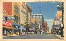 1947 Louisville Kentucky Fourth Avenue Readmore Teich linen postcard 10930