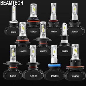 H11 9005 9006 H4 H7 H13 LED Headlights Bulbs High Low Beam Fog Light Kit 65K 50W