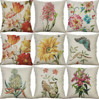 Sunflower Cotton Linen Square Home Decorative Throw Pillow Case Cushion Cover