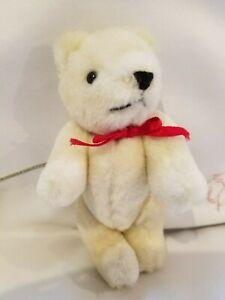 "Miniature Kelly bear 6"" White Beautiful Plush Fully Jointed Bear -"