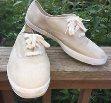 Women's Vintage Canvas Tan Keds Classic Tennis Sneakers Shoes 11 Brady Bunch