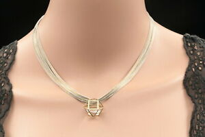 Fashion Trendy crystal cage pendant gold plated white chain necklace jewelry S37