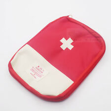 Travel First Aid Kit Bag Pouch Band-Aid Medicine Pills thermometer Organizer-Red