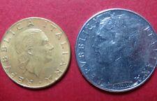 *ITALY, Lot of (2) 1979   200 &100 LIRE COINS, Republica Italiana Pre-EURO COIN