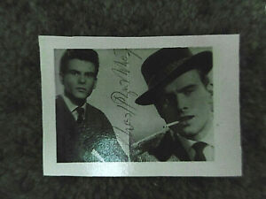 "Alte Mini-Autogrammkarte ""Horst Buchholz"" mit original Autogramm"