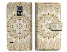 White AZTEC TRIBAL Wallet Case Cover For Samsung Galaxy S5 - A006