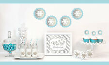 Silver And Glitter Winter Wonderland Party Decorations Starter Kit