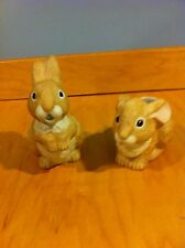 Pair Of Vintage Unmarked Bunnies Planters *