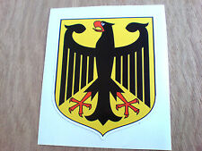 GERMAN Coat of Arms Germany Eagle Classic Car Van Motorcycle Sticker 1 off 80mm