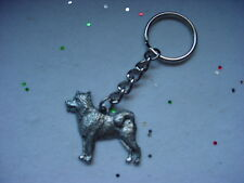 Alaskan Malamute dog Pewter Silver Keychain /Christmas Ornament Key Ring New