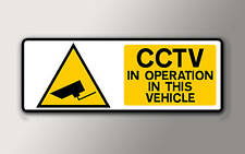 1 SMALL CCTV IN OPERATION IN THIS VEHICLE STICKER 75mmx 25mm