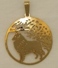 Belgian Tervuren Sheepdog Jewellry Gold Pendant