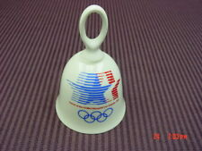 Vintage Olympic Advertising Porcelain Bell Dated 1984 Sports La California Decor