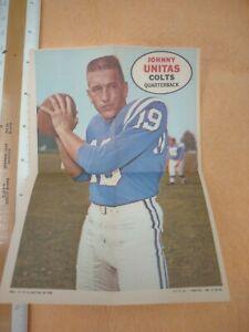 Johnny Unitas-1968 Topps Football Mini Poster card pack insert