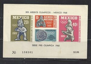 MEXICO - C310a-C311a S/S - MNH - 1965 - 19TH OLYMPIC GAMES, MEXICO  CITY
