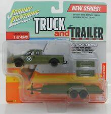 2018 Johnny Lightning *TRUCK & TRAILER 1A* 2004 Ford F-250 w/CAR TRAILER *NIP*