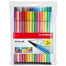Stabilo Point 68 30-color Wallet Set Pens For Fine Writing, Drawing & Sketching