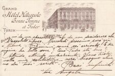 A2756) TORINO, GRAND HOTEL METROPOLE BONNE FEMME ET FEDER. VIAGGIATA.