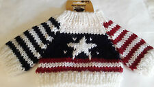 "Bear Clothes Star Sweater Red White Blue Fits 10"" to 12"""