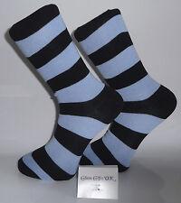 Blue and Black Striped Socks