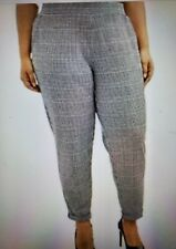 Terra & Sky Relaxed Fit Pull On cuffed Pants- BLACK SOOT COMBO sz 3X 24W-26W New