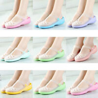 Womens SZ35-39 plastic jelly flats clogs Sandals beach water shoes slippers