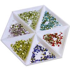 2X Container Holder Triangle Phone / Craft / Nail Art / Rhinestones Gems Bead HA