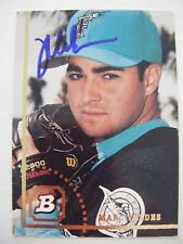 MARC VALDES signed RC MARLINS 1994 Bowman baseball card AUTO FLORIDA GATORS #646