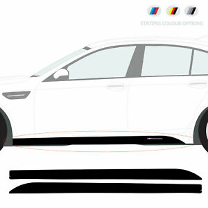 Compatible with BMW M5 Sport Side Skirt Vinyl STICKERS set for F10 / F11 models