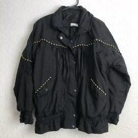 Vintage 80s Lavon Windbreaker Tracksuit Jacket And Pants Set Large, Black/ Gold