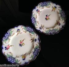 Paire Assiettes porcelaine XIXéme Bayeux ? à identifier