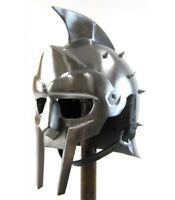 Medieval Gladiator Helmet Greek Roman Knight ,Maximus Costume Armor Iron Helmet