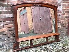 More details for large antique overmantle mirror