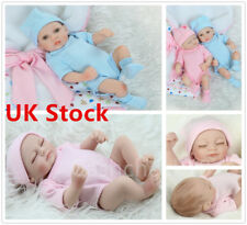 "11"" Reborn Baby Dolls Lifelike Soft Silicone Realistic Real Life Doll Xmas cckk"