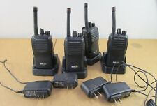 Lot of 4  Bearcom Motorola BC95 8 Channel UHF Handheld Two Way Radios w/Chargers