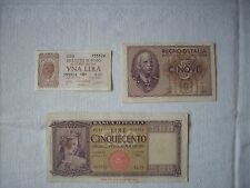 BANCONOTA LIRE CINQUECENTO 500 DECR. MIN. 14 e 18 AGOSTO 1947 BUONE CONDIZIONI