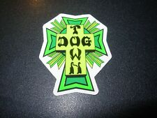 """DOGTOWN dog town Skate Sticker Green Cross 2 X 1.5"""" skateboards helmets decal"""