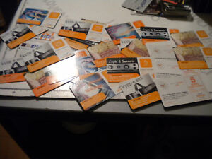 Stock 30 Used Phonecards Ricaricard Various Years Edition Amounts Wind